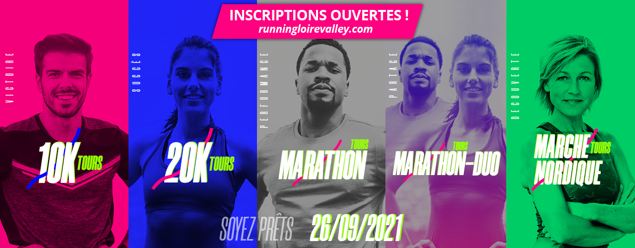 lancement inscription 2021 marathon de tours 10 km de Tours  20 km de Tours